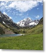 Maroon Bells Trail Panorama Metal Print