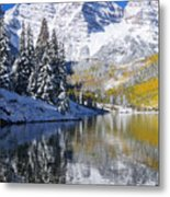 Maroon Lake And Bells 2 Metal Print by Ron Dahlquist - Printscapes