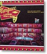 Marquee Motel 1960's Wildwood, Nj, Copyright Aladdin Color Inc. Metal Print