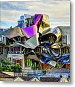marques de riscal Hotel at sunset - frank gehry Metal Print