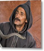 Marrakech Snake Charmer Metal Print
