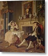Marriage A La Mode II The Tete A Tete Metal Print