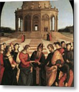 Marriage Of The Virgin - 1504 Metal Print