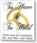 Marriage Vows Metal Print