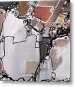Marron Mapa Metal Print