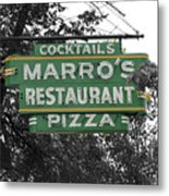 Marro's Restaurant Metal Print