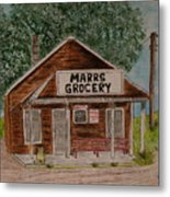 Marrs Country Grocery Store Metal Print