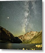 Mars And The Milky Way Metal Print