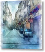 Marseille Back Street Metal Print
