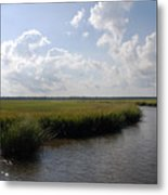 Marsh Scene Charleston Sc II Metal Print