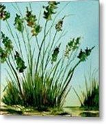 Marsh Weeds Metal Print