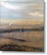 Marsh With Egrets Metal Print