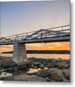 Marshall Point Light Sunset Metal Print