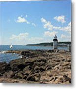 Marshall Point Lighthouse Metal Print by Becca Brann