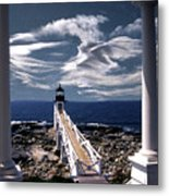 Marshall Point Lighthouse Maine Metal Print by Skip Willits