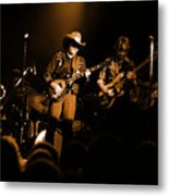Marshall Tucker Winterland 1975 #12 Enhanced In Amber Metal Print