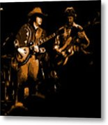 Marshall Tucker Winterland 1975 #17 Enhanced In Amber Metal Print