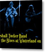 Marshall Tucker Winterland 1975 #18 Enhanced In Blue With Text Metal Print