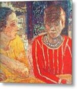 marthe in red blouse c1928 Pierre Bonnard Metal Print