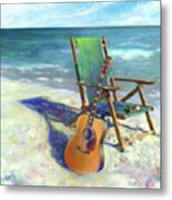 Martin Goes To The Beach Metal Print