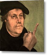 Martin Luther  Finger Metal Print