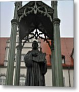 Martin Luther In Market Square Metal Print