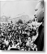 Martin Luther King Addresses Selma Metal Print by Everett