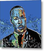 Martin Luther King Color Metal Print