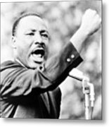 Martin Luther King, Jr., Gesturing Metal Print by Everett