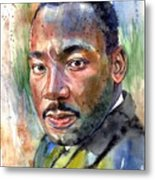 Martin Luther King Jr. Painting Metal Print
