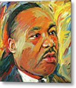 Martin Luther King Portrait 1 Metal Print