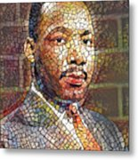 Martin Luther King Portrait Mosaic 2 Metal Print