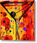 Martini Twentyfive Of Sidzart Pop Art Collection Metal Print