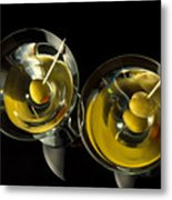 Martinis For Two Metal Print