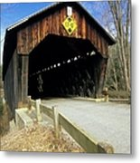 Martinsville Covered Bridge- Hartland Vermont Usa Metal Print