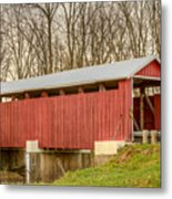 Martinsville Covered Bridge Metal Print