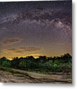 Marveling At The Creation Of God - Milky Way Panorama At Enchanted Rock - Texas Hill Country Metal Print