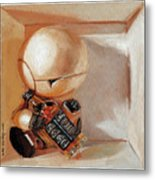 Marvin, Paranoid Android In A Box Metal Print