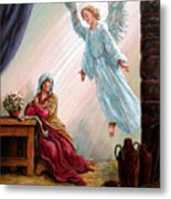 Mary And Angel Metal Print