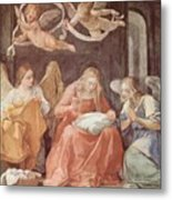 Mary And Angels 1611 Metal Print