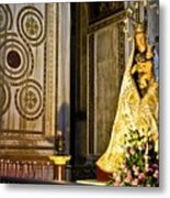 Mary And Baby Jesus In Palermo Metal Print