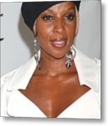 Mary J. Blige At Arrivals For The 4th Metal Print by Everett