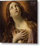 Mary Magdalene In Ecstasy At The Foot Of The Cross 1629 Metal Print