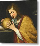 Mary Magdalene In Meditation  Metal Print