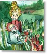 Mary Mary Quite Contrary Metal Print by Mindy Newman