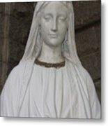 Mary Statue At Sacred Heart In Tampa Metal Print