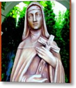 Mary With Cross Metal Print