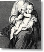 Mary With The Child Jesus Metal Print