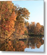 Maryland Autumns - Clopper Lake - Kingfisher Overlook Metal Print