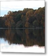 Maryland Autumns - Lake Elkhorn - Red Roof Metal Print